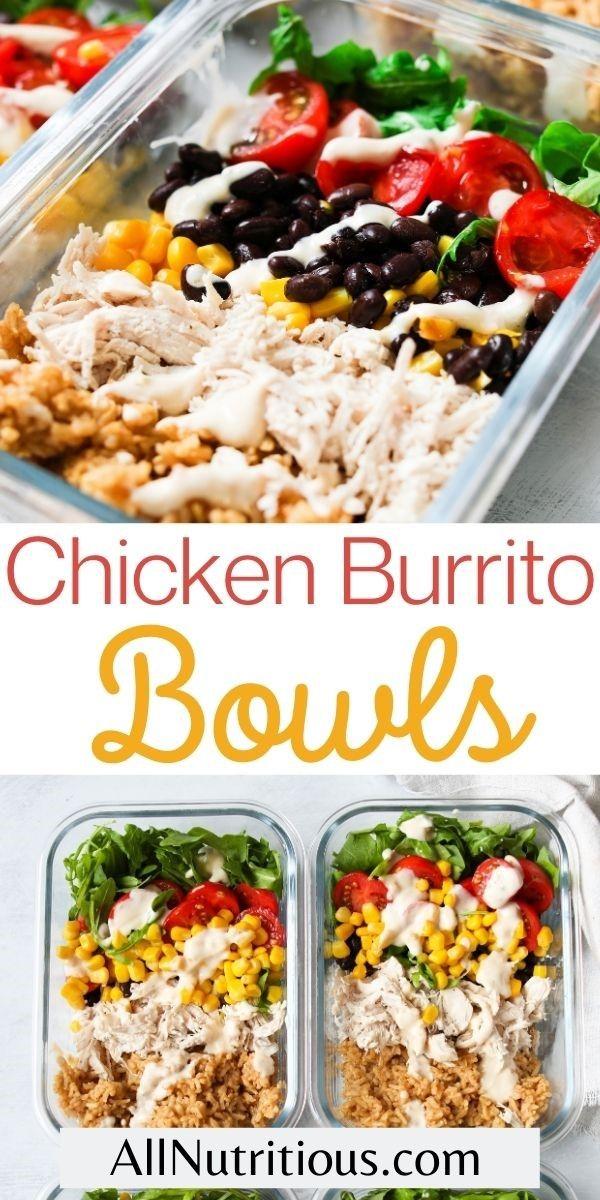 chicken burrito bowls pinterest