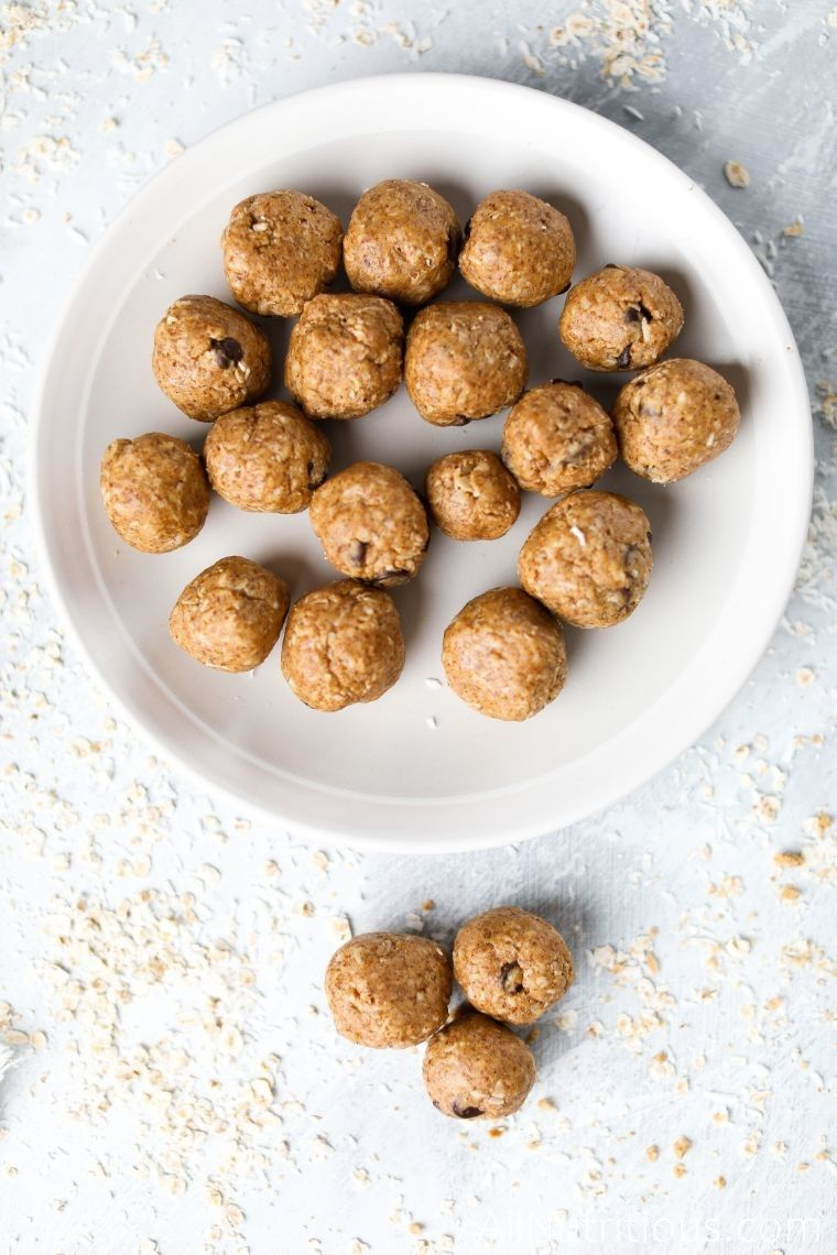 plate of protein balls