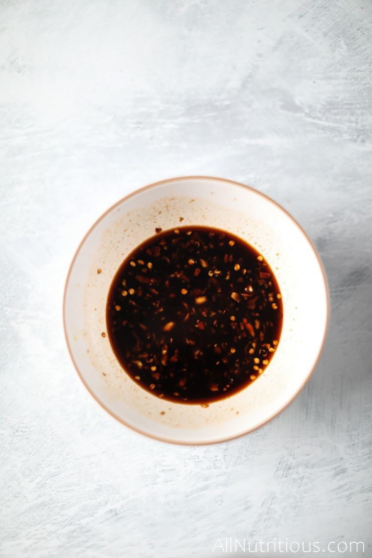 soy sauce mixture in bowl