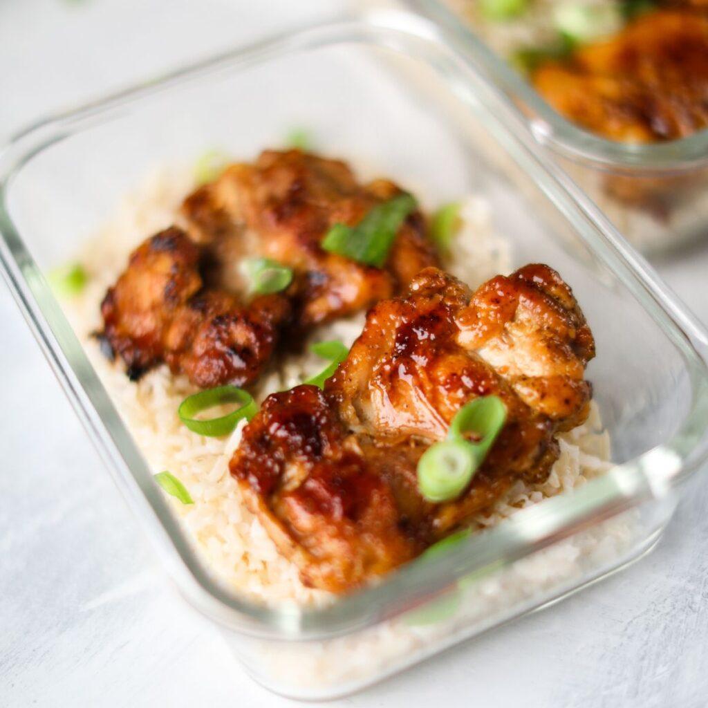 honey garlic chicken meal prep