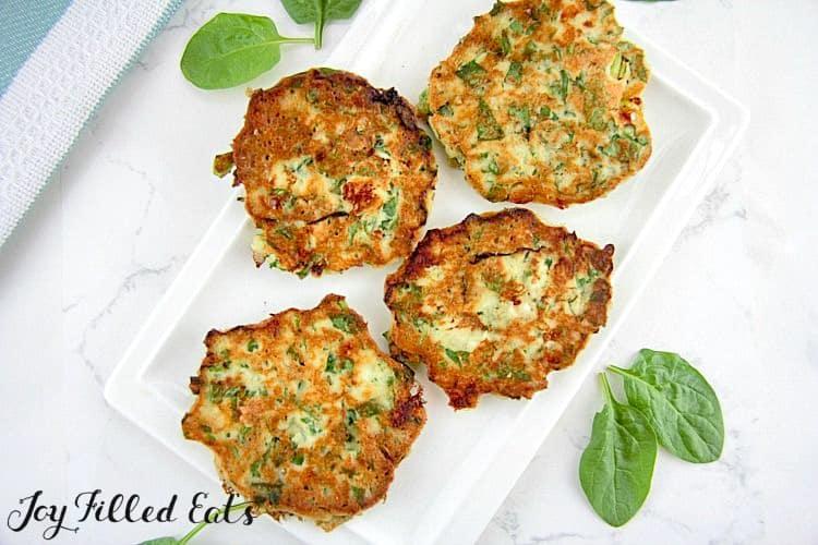 Spinach Feta Savory Pancakes