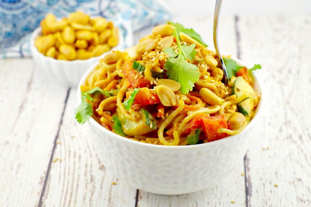 Spicy Peanut Pasta Salad