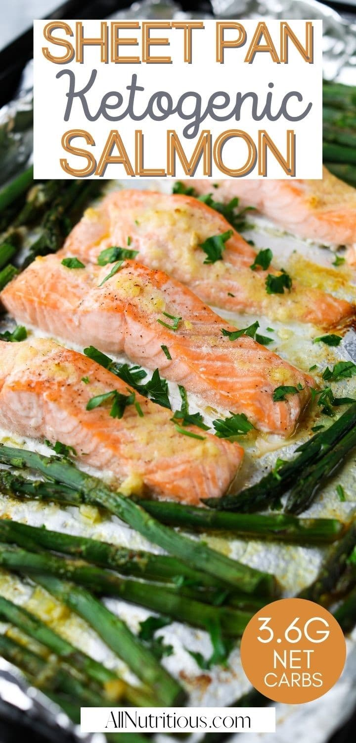 sheet pan ketogenic salmon pin