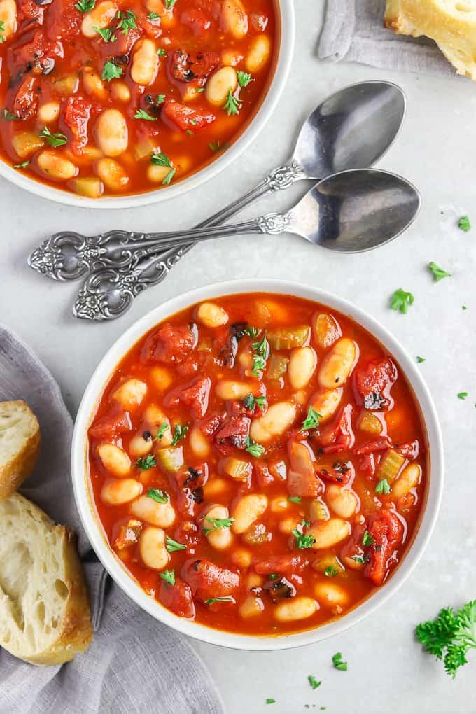 Smoky Tomato White Bean Soup