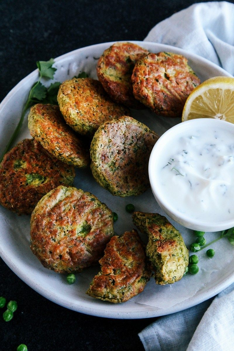Baked Green Pea Fritters