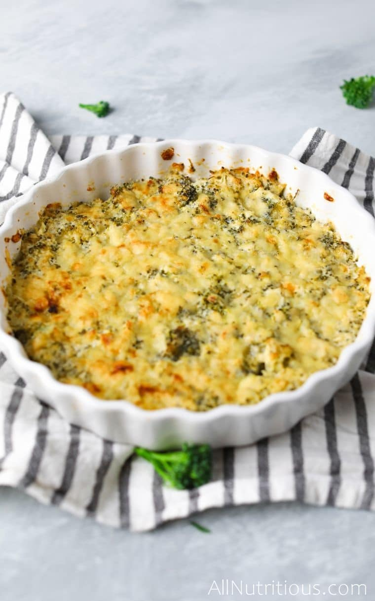 side shot of casserole
