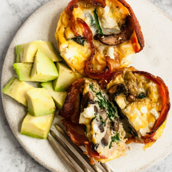 Mushroom Spinach Bacon Egg Cups