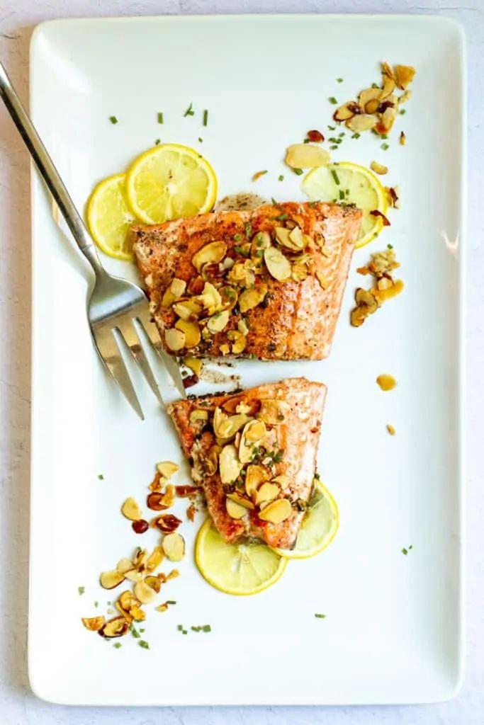 Salmon Almondine