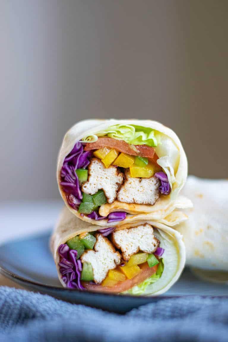 Air Fryer Asian Tofu Wrap