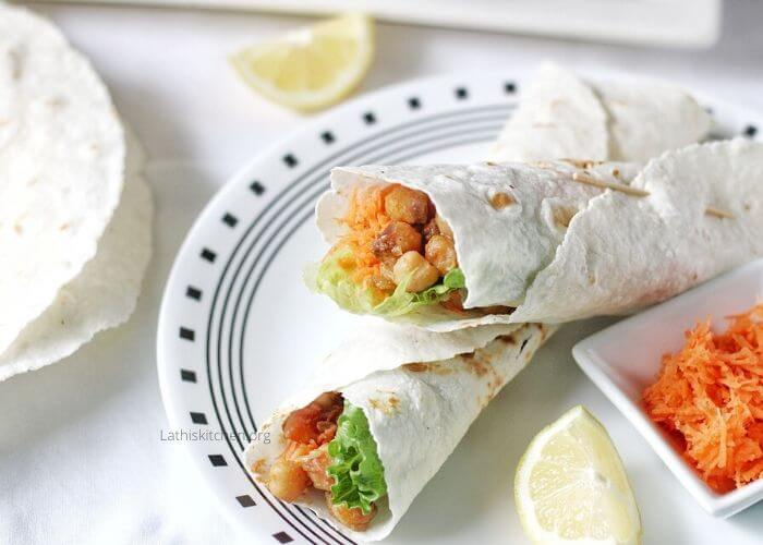 Instant Pot Curried Chickpeas Wrap