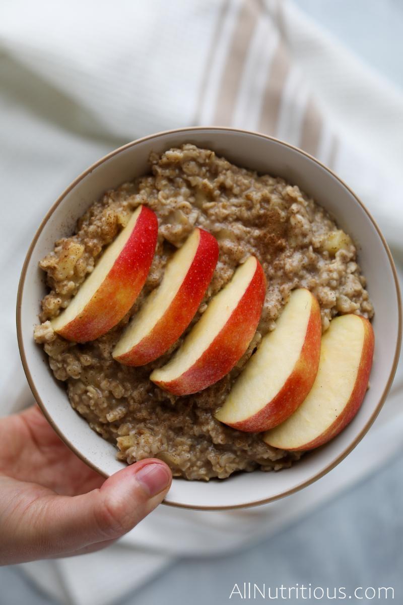 apple cinnamon porridge