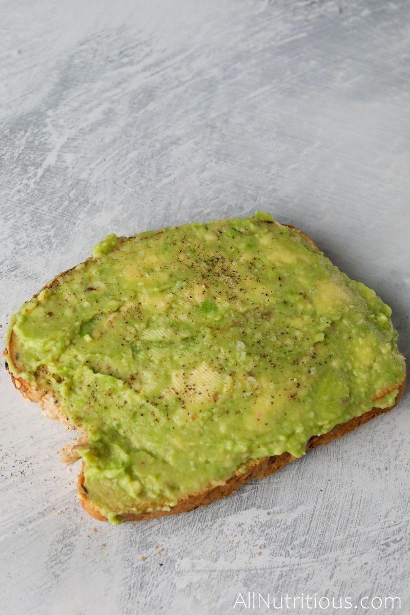 plain avocado toast