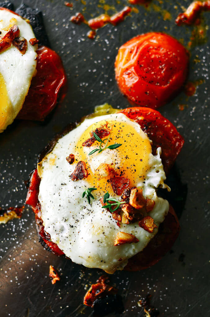 Portobello Egg Toast