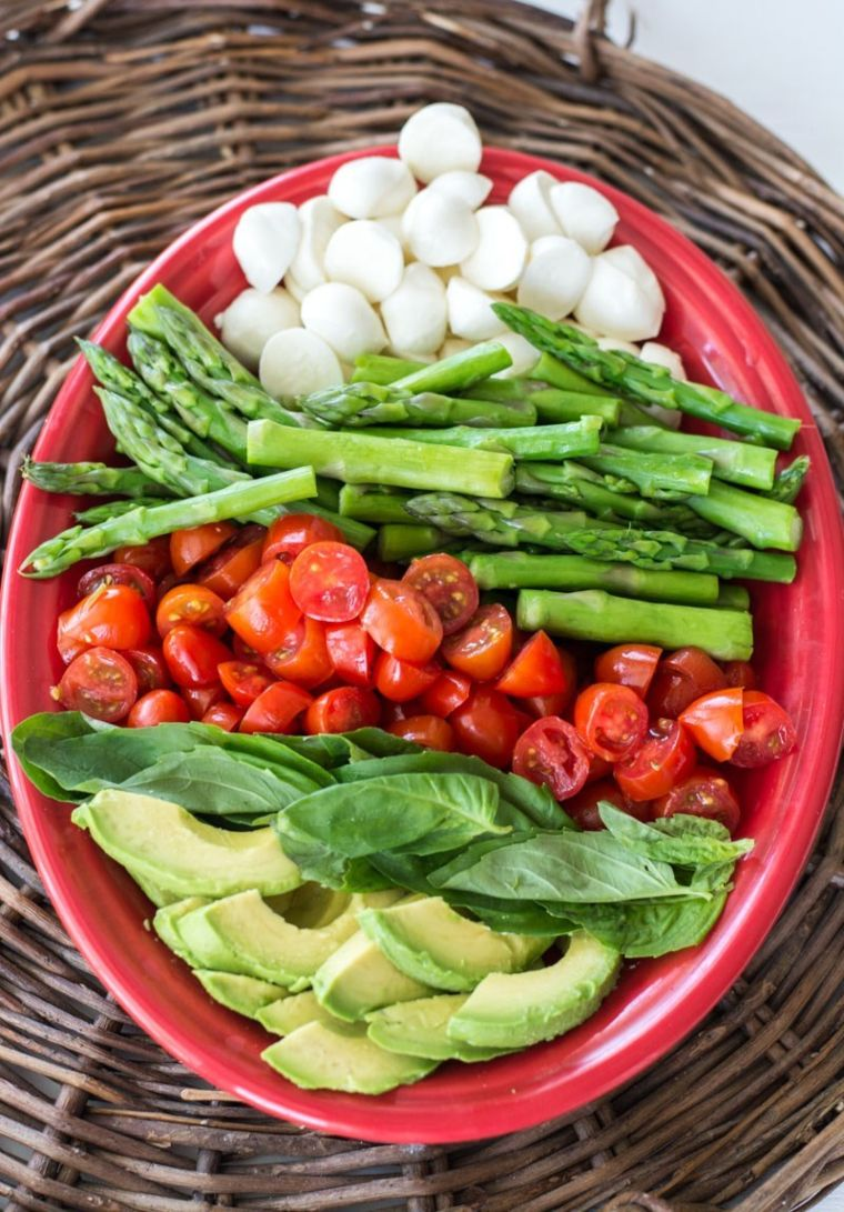 Asparagus, Avocado, & Tomato Salad
