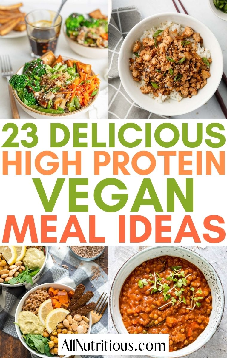 vegan high protein meals