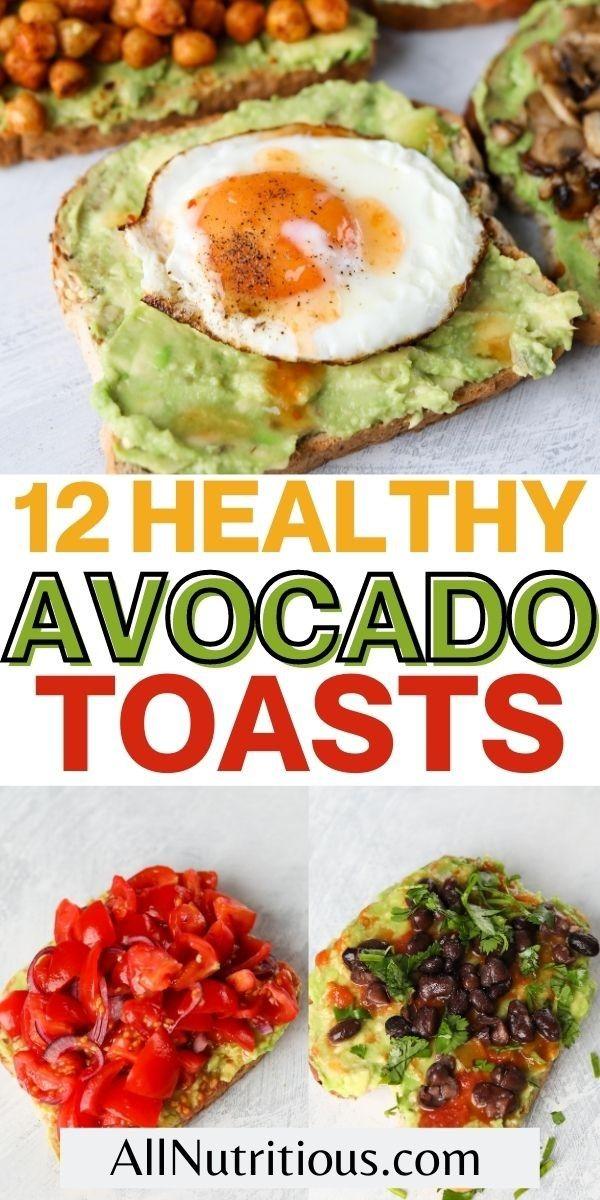 healthy avocado toasts pinterest