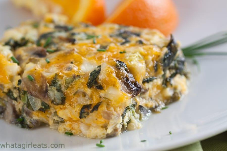 Spinach & Mushroom Breakfast Casserole