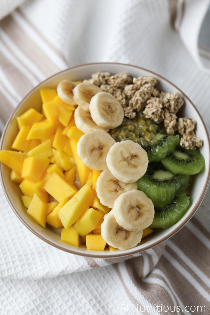 kiwi, mango, passion fruit