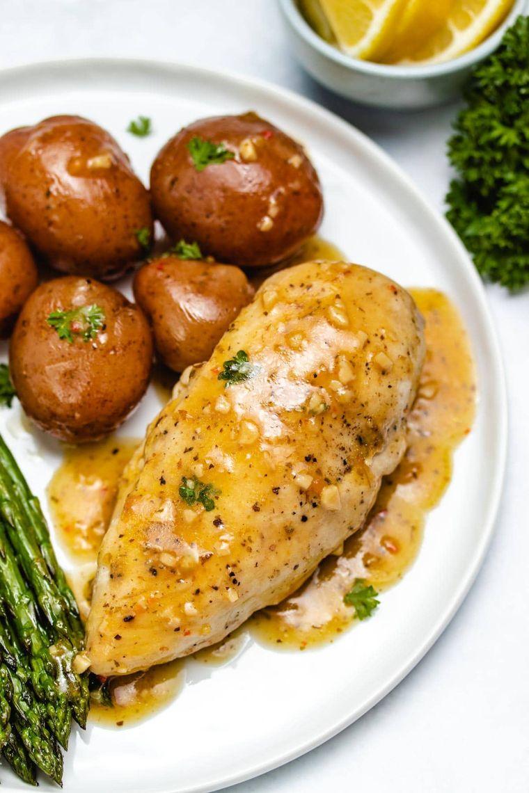 Lemon Garlic Instant Pot Chicken