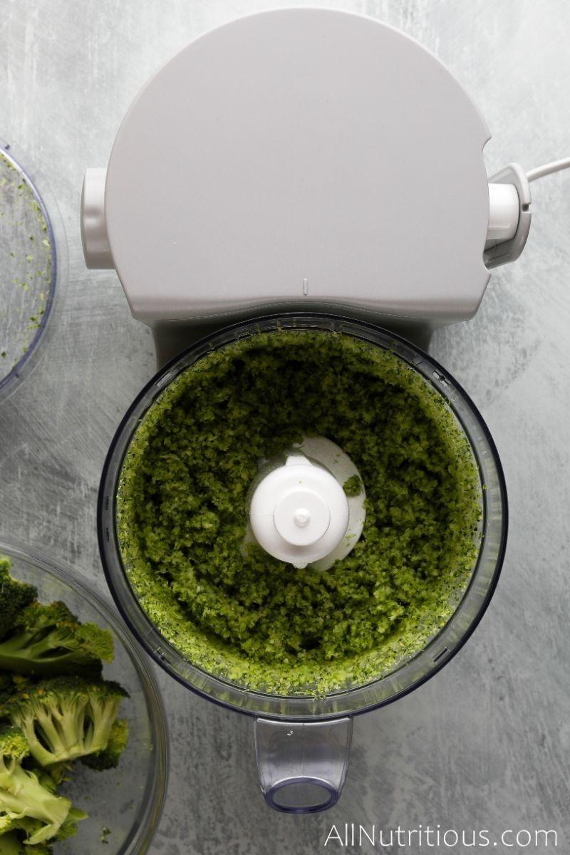 broccoli rice in food processor