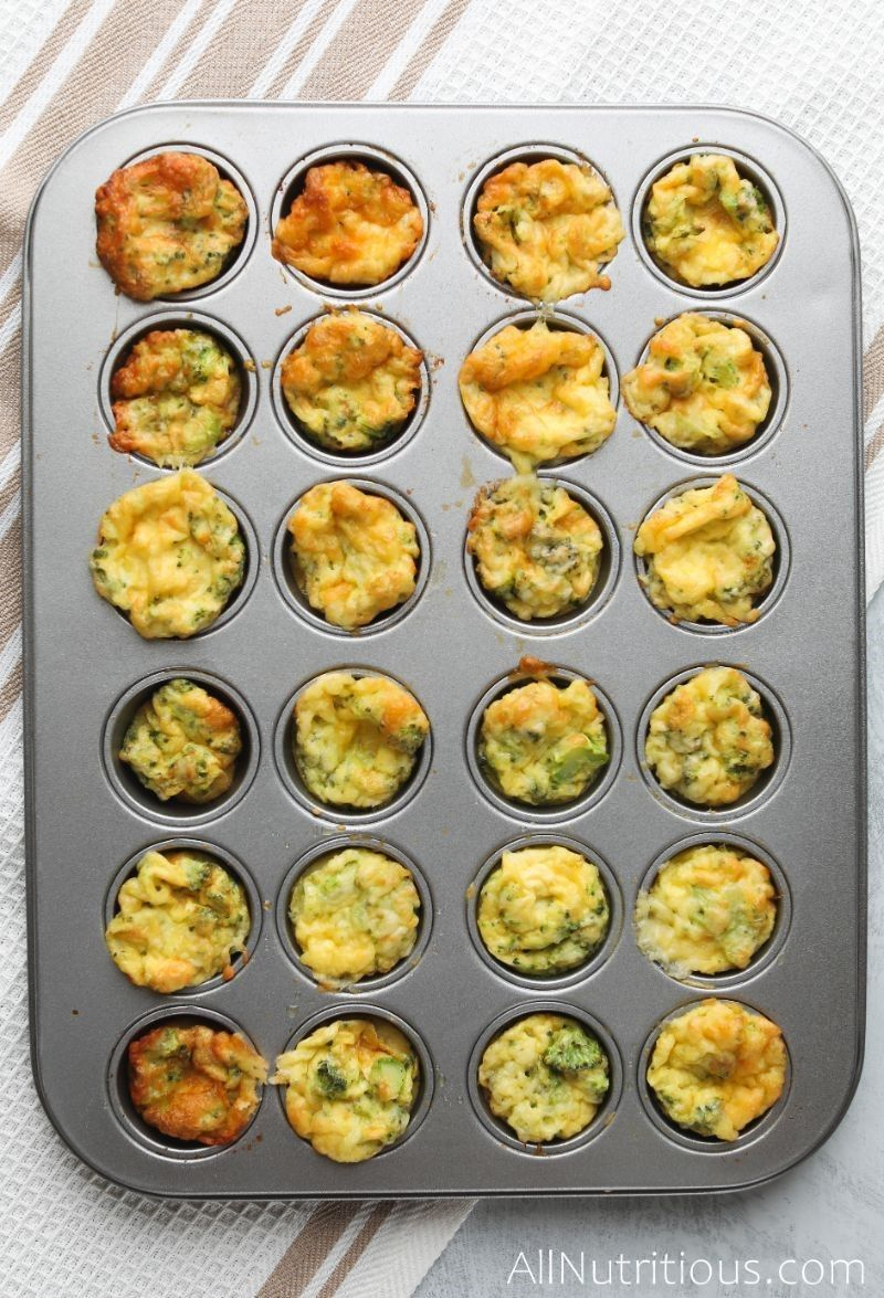 cooked egg bites in muffin tin