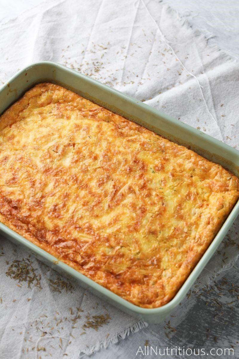 cooked keto cheese tomato quiche