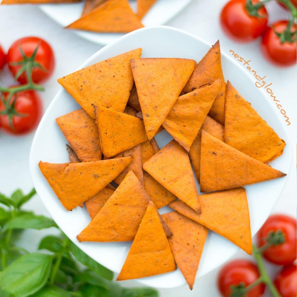 Tomato & Basil Lentil Chips