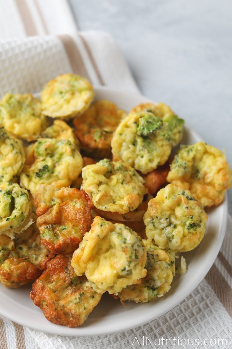 plate of egg mini muffins
