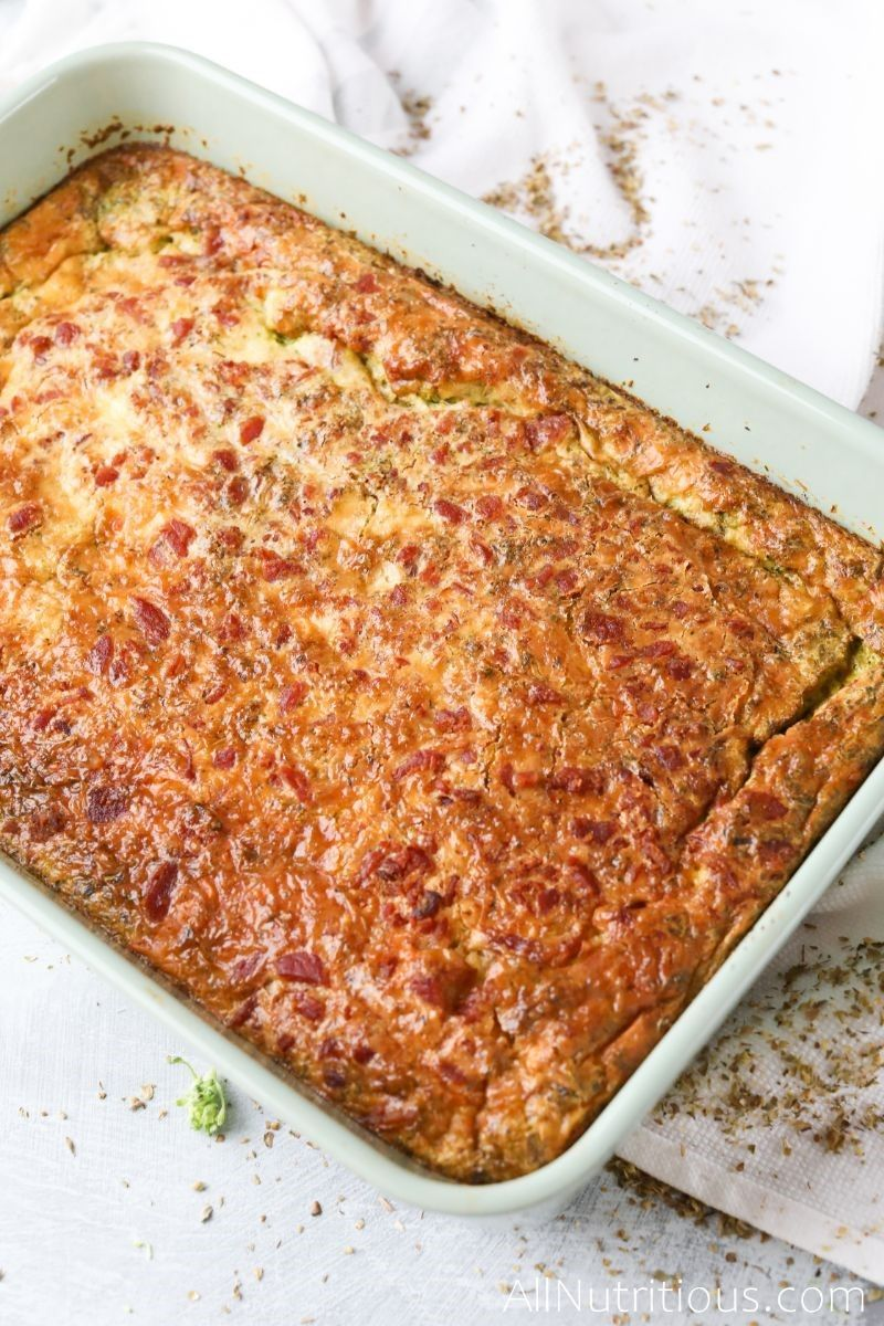 cooked bacon egg casserole