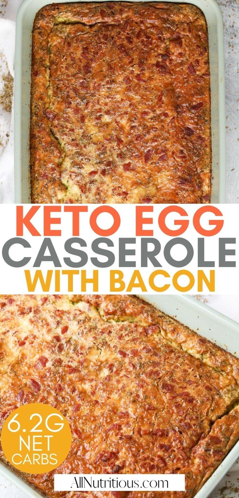 keto egg casserole with bacon