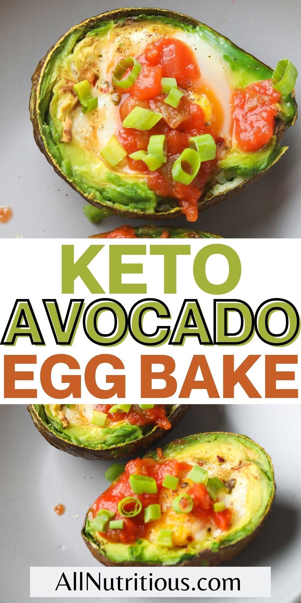 keto avocado egg bake
