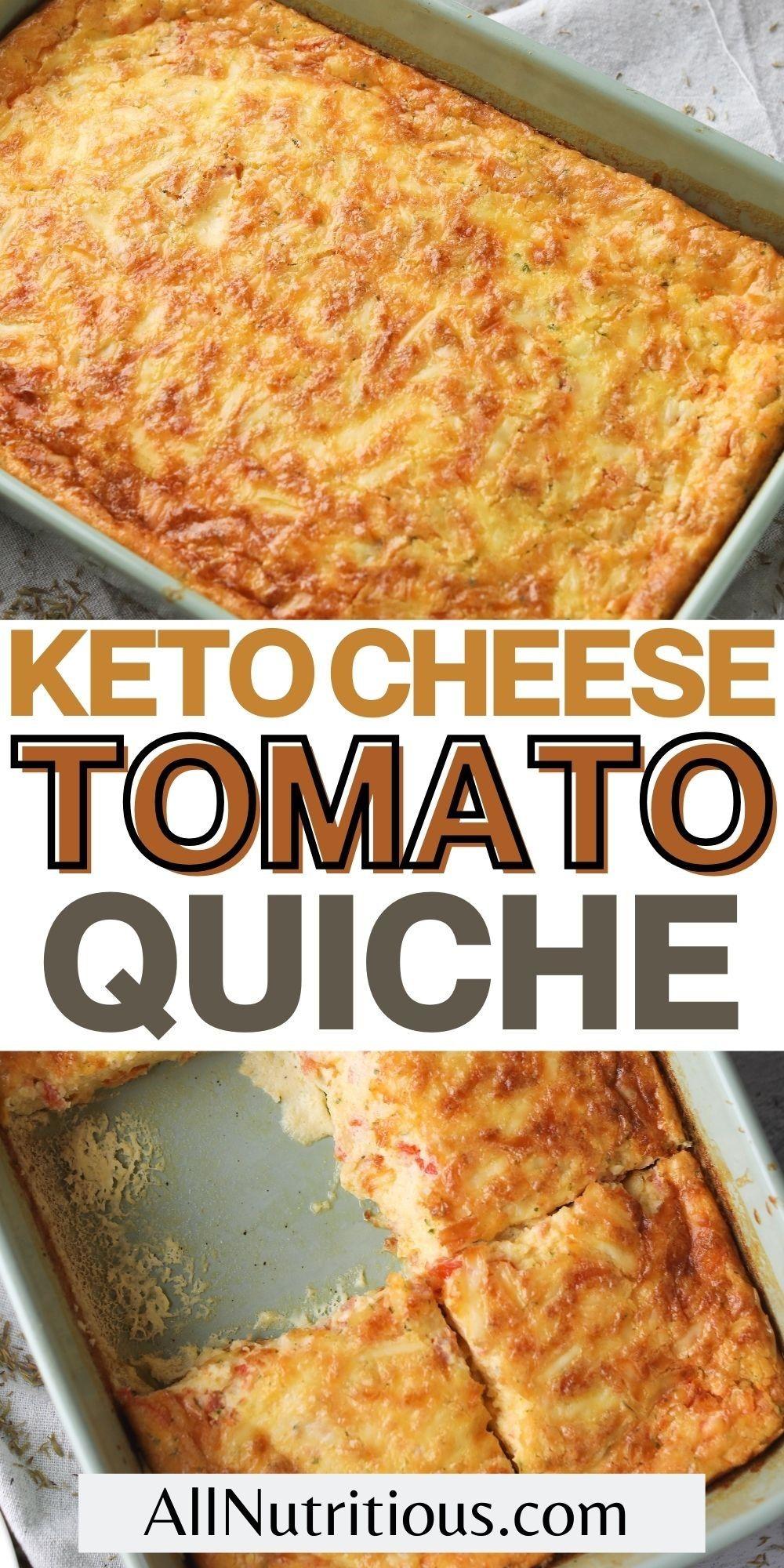 keto cheese tomato quiche