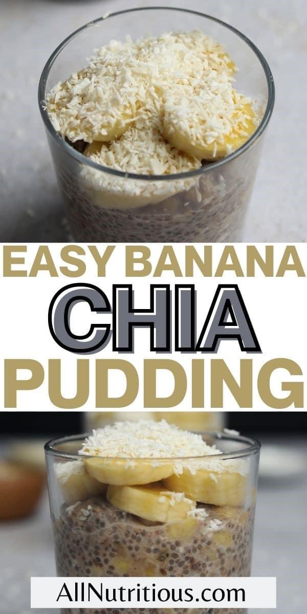 easy banana chia pudding pin