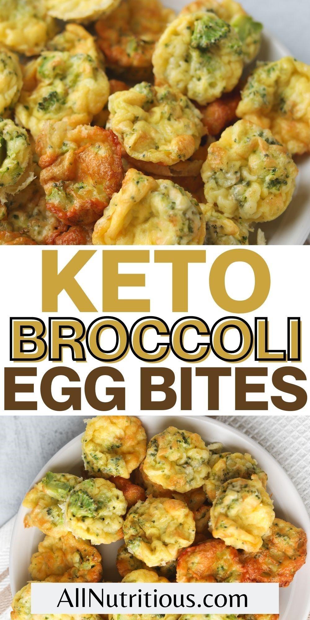 broccoli egg bites pinterest pin
