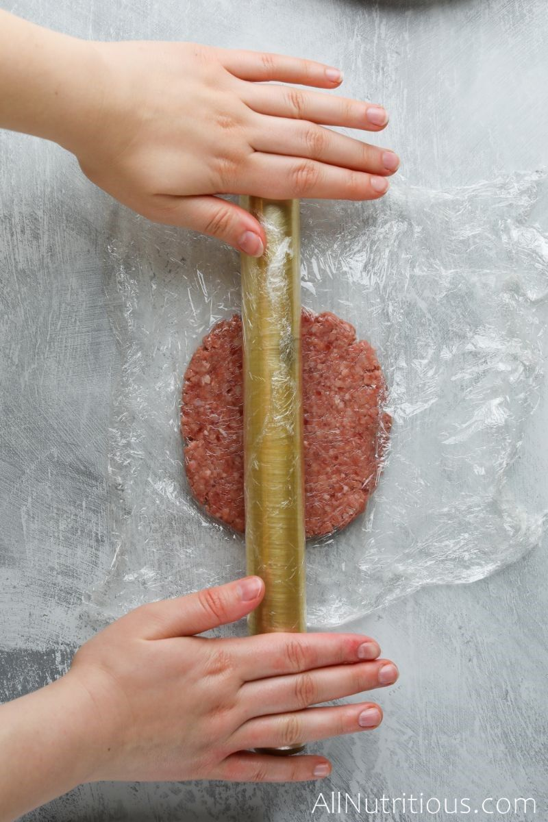 rolling out beef burger