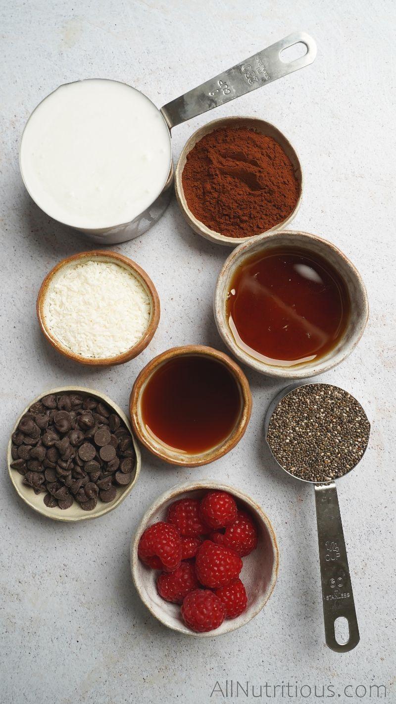 ingredients in measuring cups