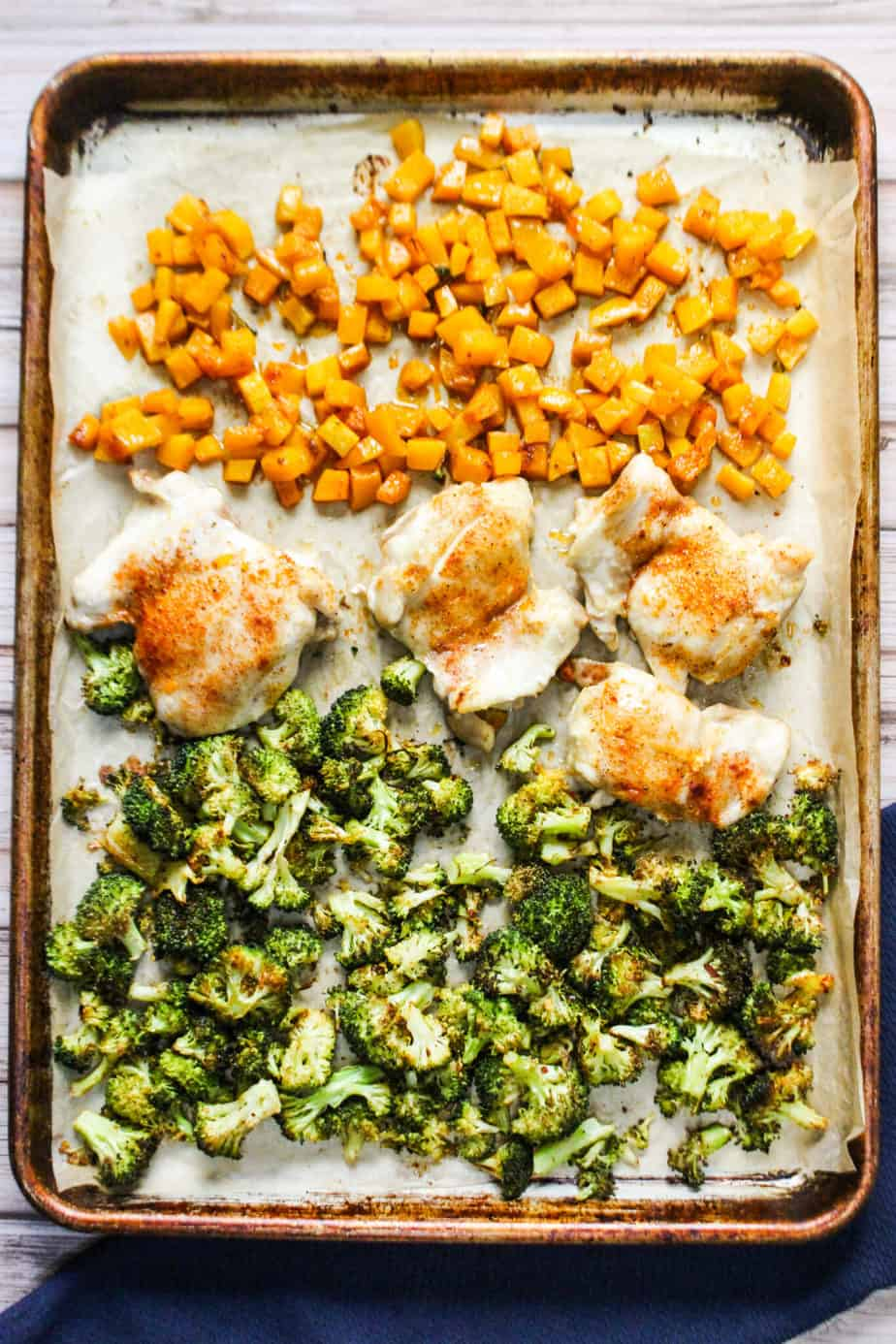 Chicken Thighs, Broccoli and Butternut Squash