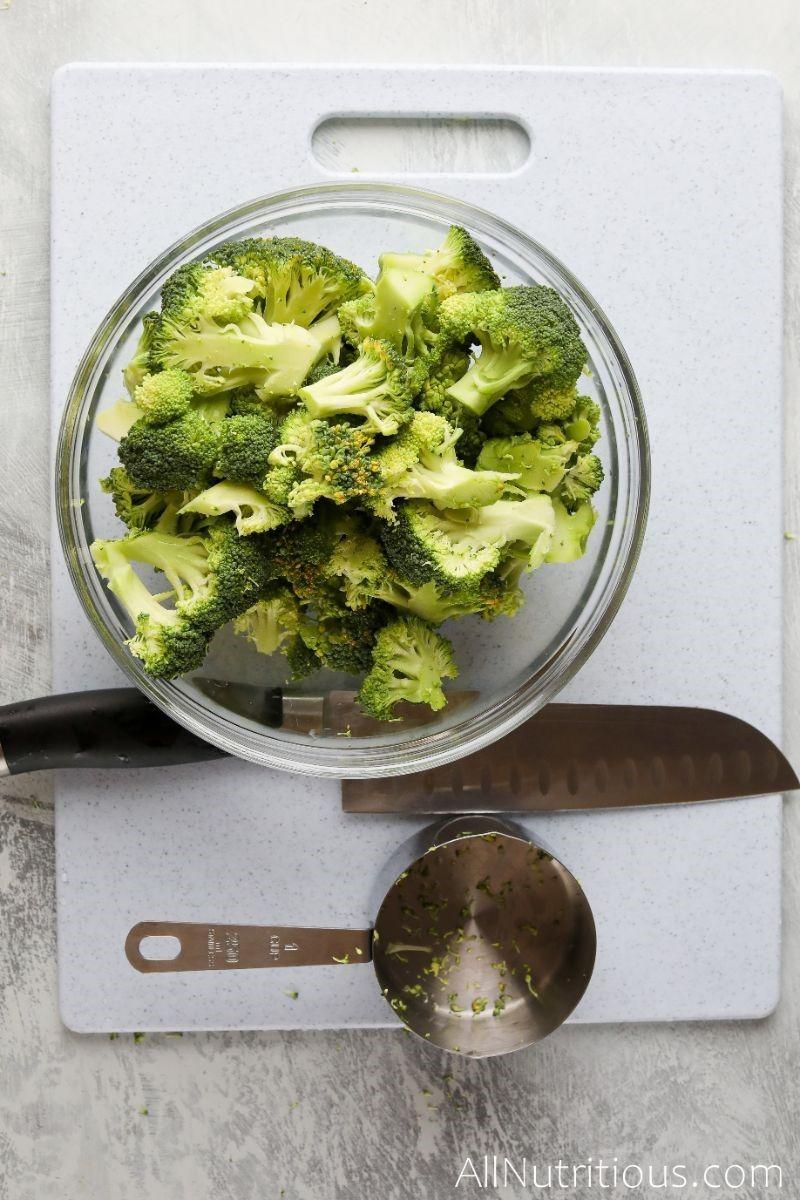 chopped broccoli in bowl