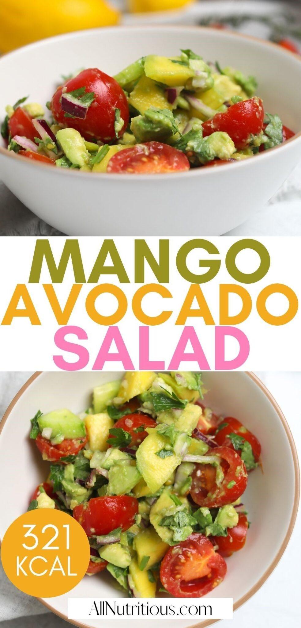 mango avocado salad pinterest pin