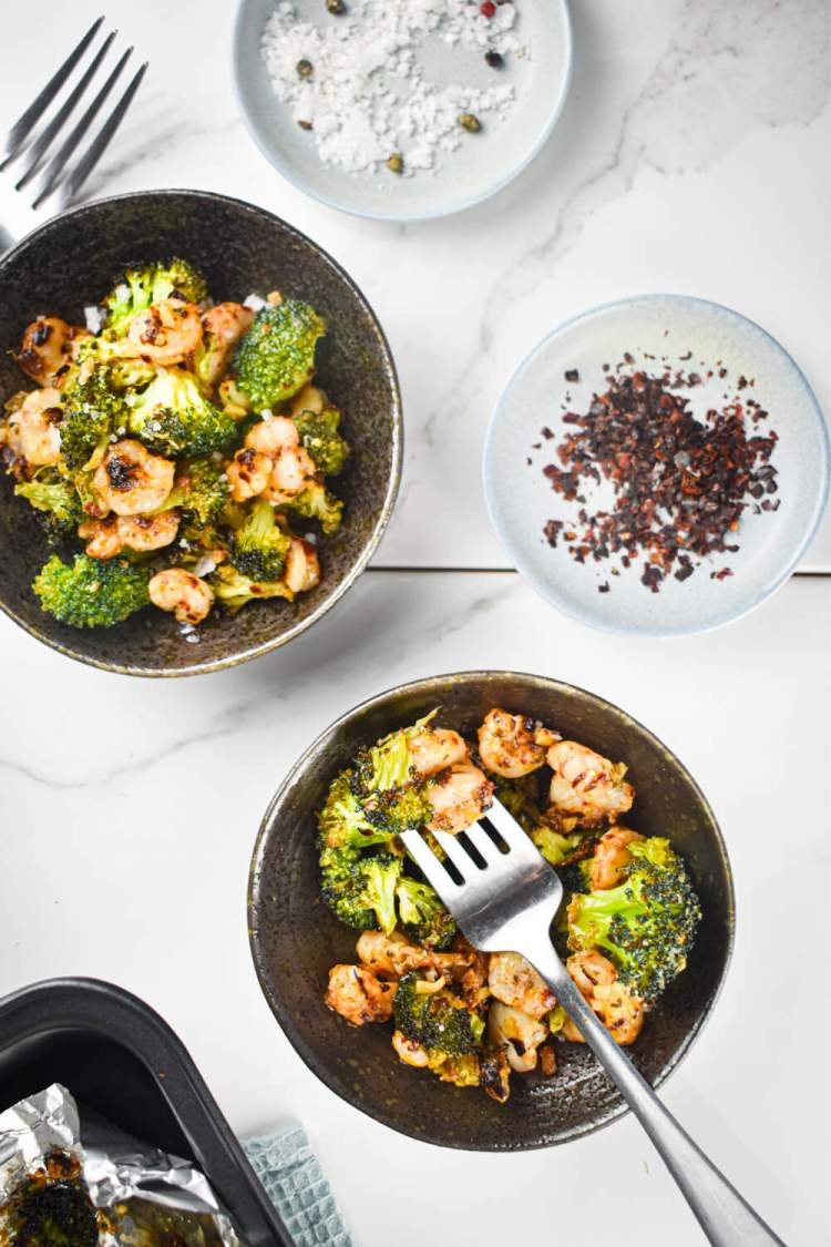 Garlic Parmesan Roasted Shrimp & Broccoli