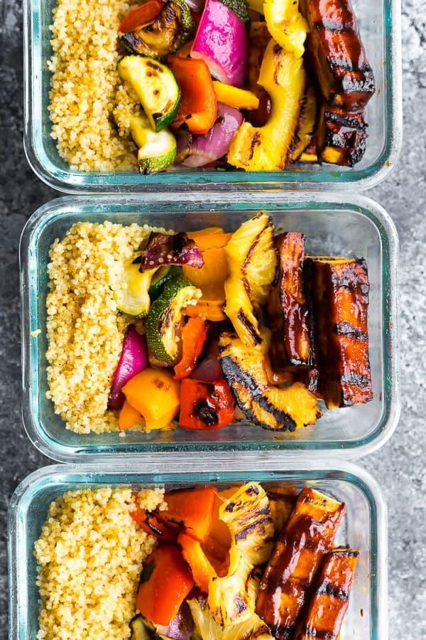 Pineapple BBQ Tofu Bowls