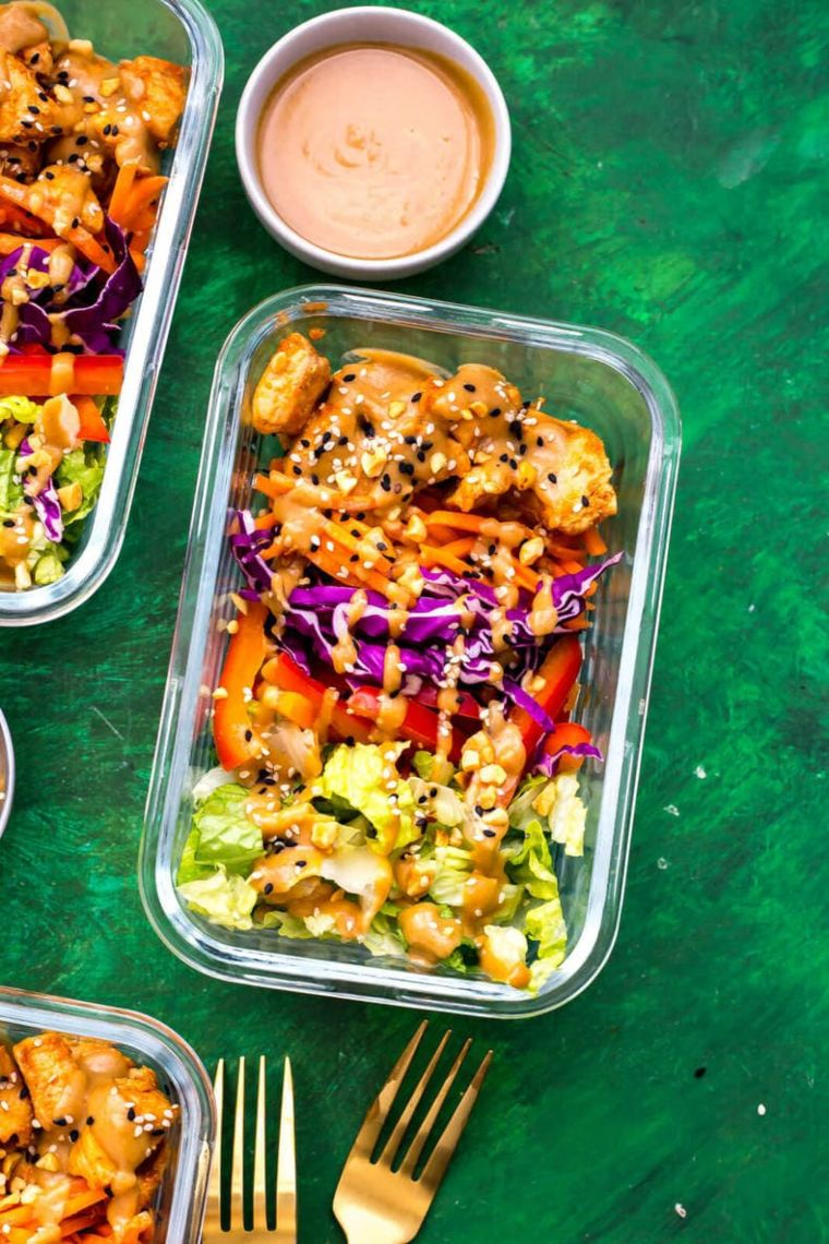 Peanut Chicken Meal Prep Bowls