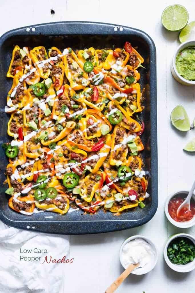 Mexican Mini Bell Pepper Nachos