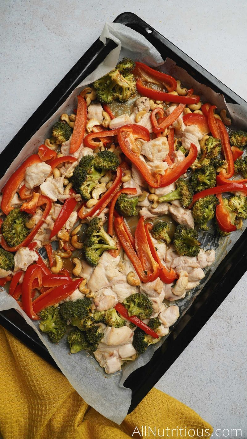 pan with cashew chicken