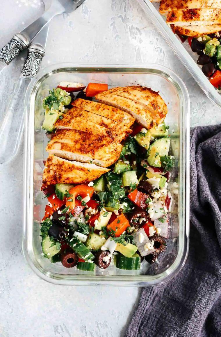 Greek Chicken Salad Bowls
