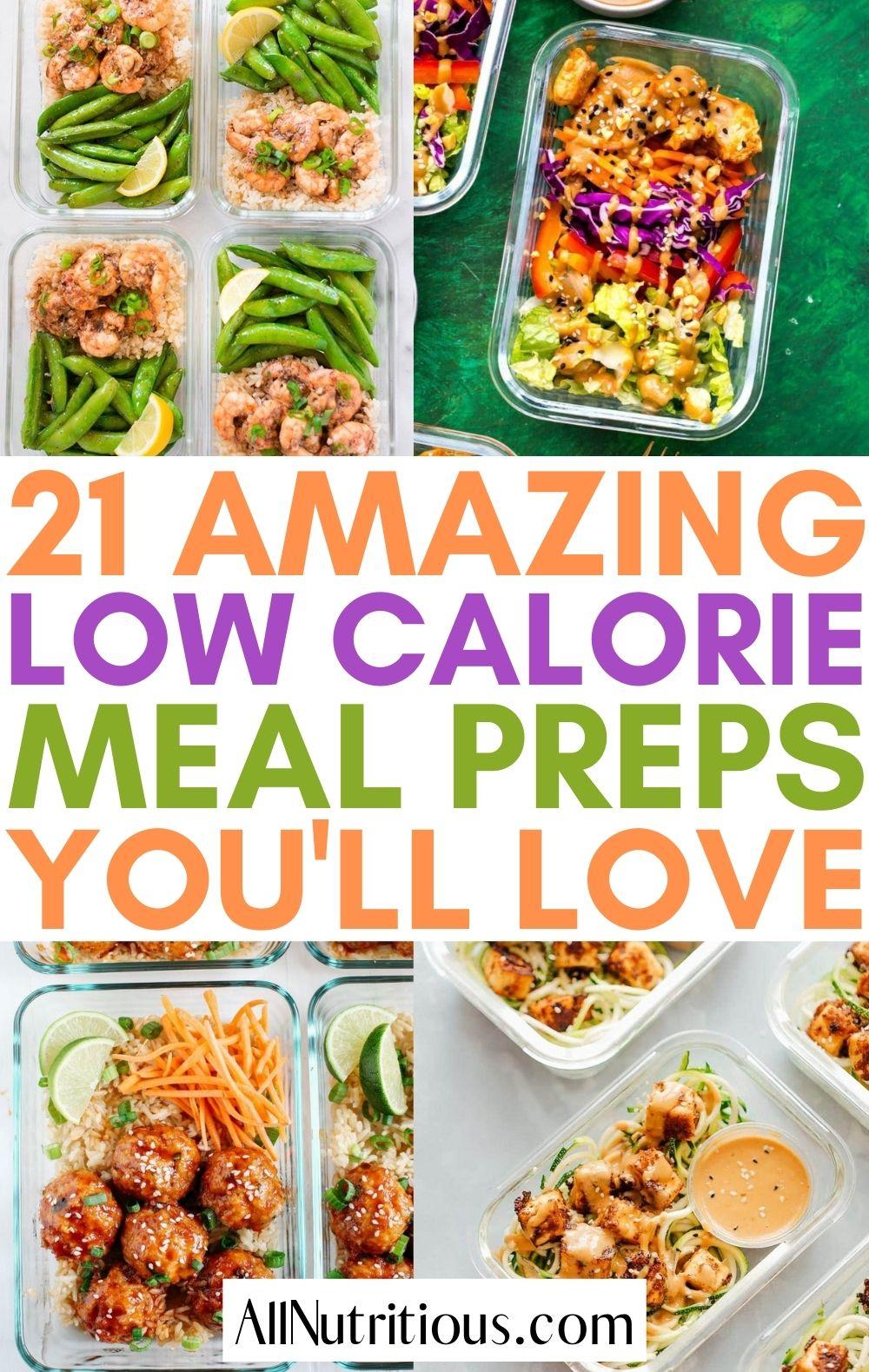 low calorie meal preps