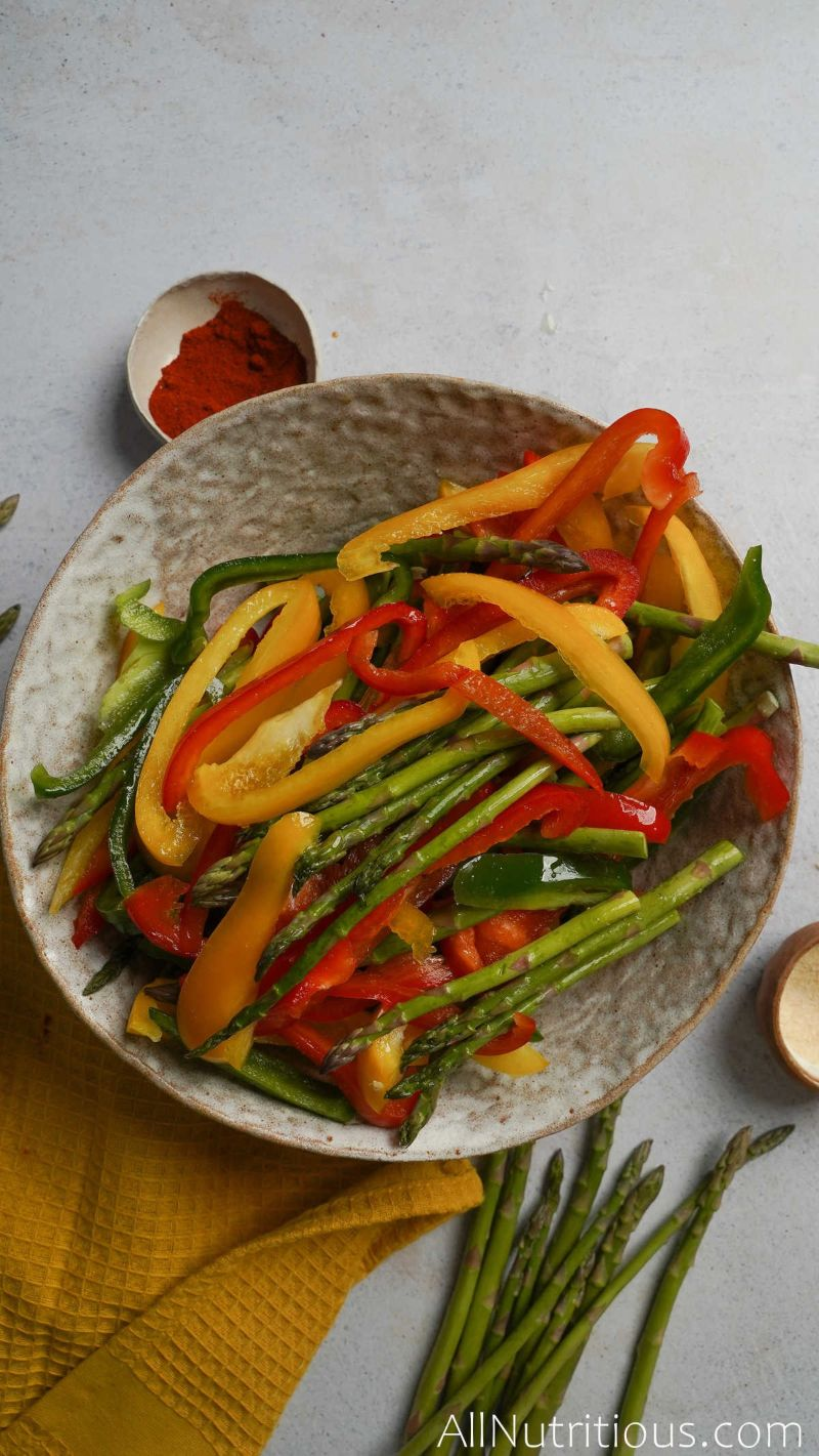 chopped veggies in bowl