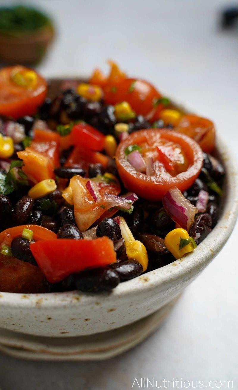 bowl of mexican bean salad