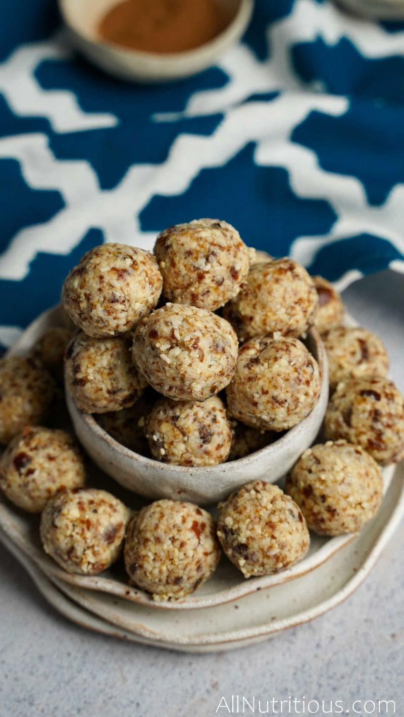 many cashew balls stacked