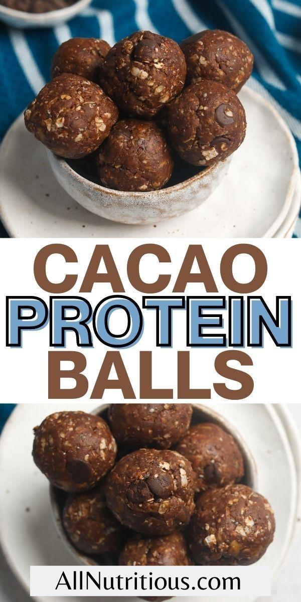 cacao protein balls